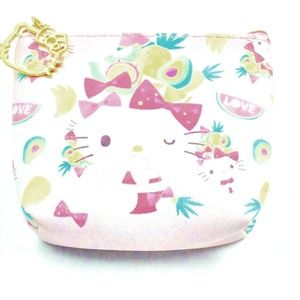 Hello Kitty Coin Purse Tropical Kitty Pineapple